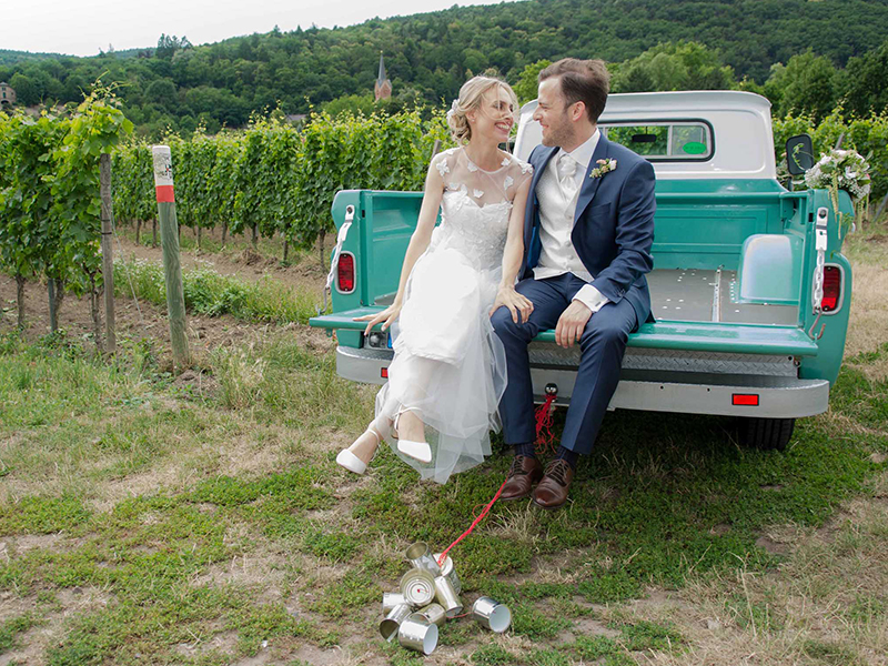 Hochzeit Paaraufnahme