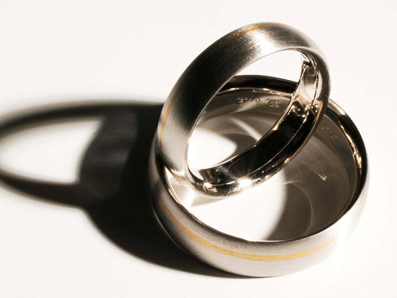 Produktaufnahme Eheringe